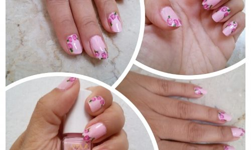 Nail art cena dalla suocera decorazione romantica